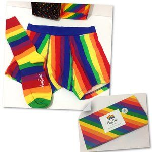Pride Mens Boxer Brief + Sock Happy Socks Giftbox